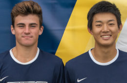 Photo of tennis players Matthew Chen and James Hopper