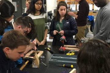 photo of a diverse group of Case School of Engineering students working together at a table