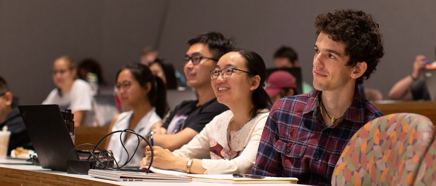 Photo of students sitting in a lecture hall at CWRU