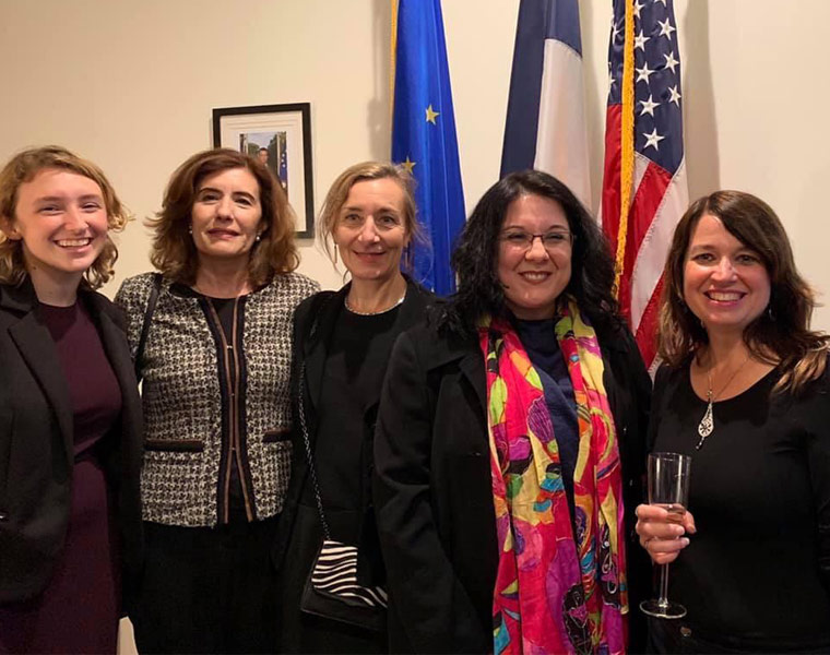 Photo of Kimberly Osbern, Lilas Al Dakr, Charlotte Sanpere, Fabienne Pizot-Haymore and Cheryl Toman