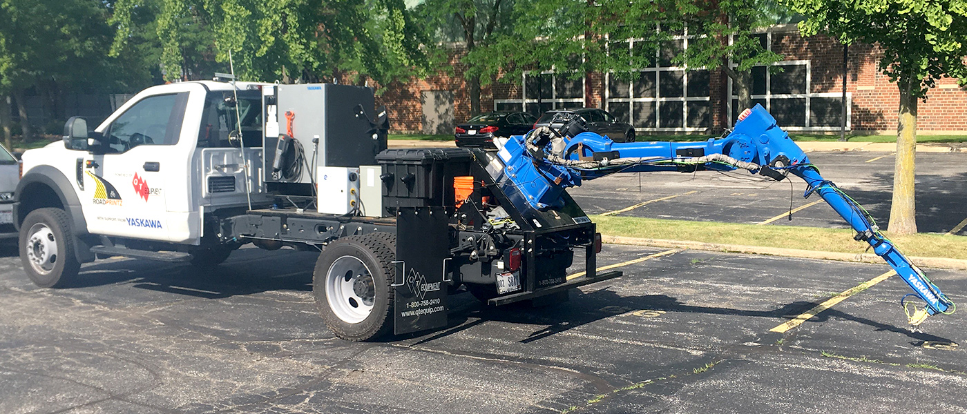 RoadPrintz Inc., with technology created at CWRU, secures additional funding to advance robotic street-painting vehicle