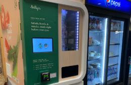 exterior of a salad vending machine