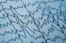 brain waves on paper