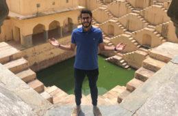 Photo of Kareem Agag posing at a landmark