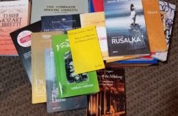 Photo of a pile of Opera Librettos
