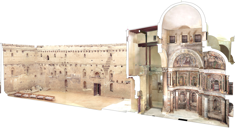 A digital rendering of the Red Monastery Church