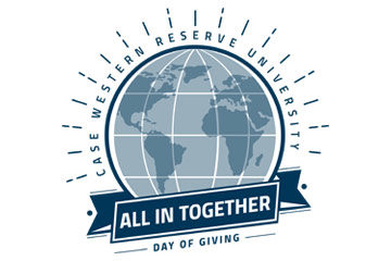 "Image of the Day of Giving logo that has a globe image and says ""All in Together"""