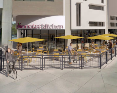 Architectural rendering of a new Plum Market planned for Uptown.