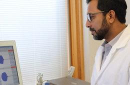 photo of Anirban Sen Gupta in the lab