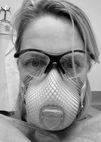 Photo of Case Western Reserve School of Medicine assistant professor Cheryl Cameron wearing a mask