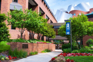an outdoor view of the law school of Case Western Reserve University