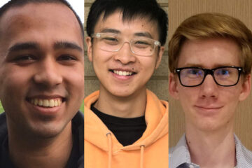 Photo compilation of images of Zahin Islam, Daniel Shao and Evan Vesper