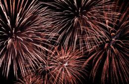 Photo of fireworks against a dark sky