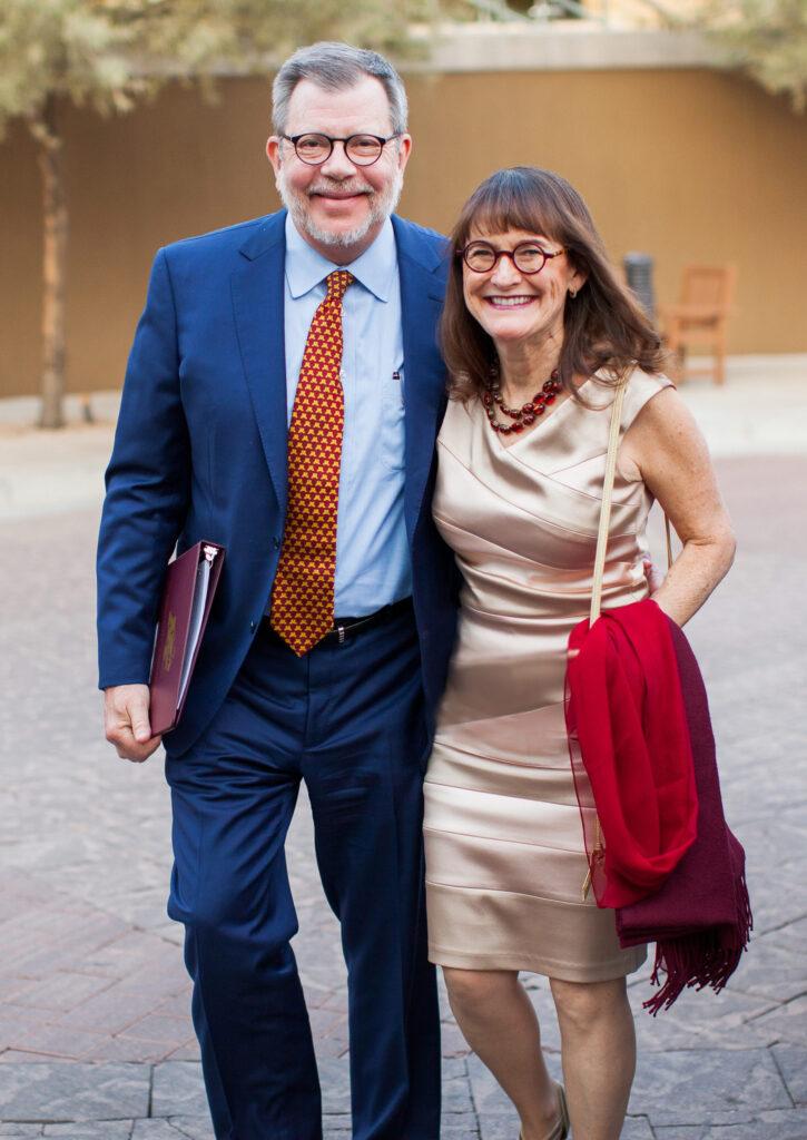 Photo of Eric Kaler and his wife, Karen