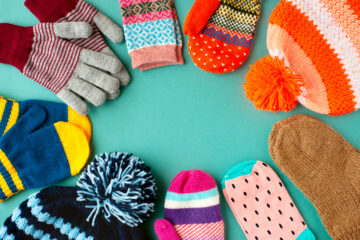 Photo of hats and gloves