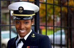 Photo of Ciera McCrary in Navy uniform