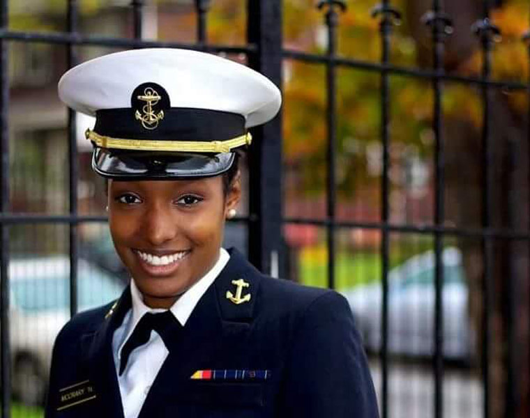Photo of Ciera McCrary in Navy uniform