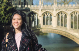 Photo of Annie Du posing for a photo during her study abroad experience