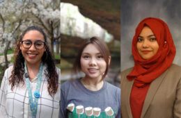 Photo compilation of images of Emalyn Delgado Rosario, (Natalie) Nuttanit Pramounmat and (Saba) Syeda Nur-E Saba