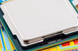 Photo of a microchip processor